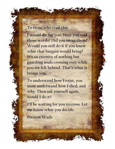 Preston's letter